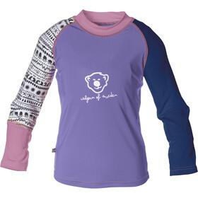 Isbjörn Sun longsleeve Kinderen violet/blauw
